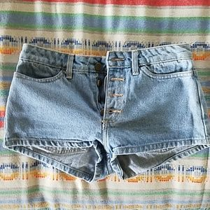 American Apparel Button Front Short Shorts